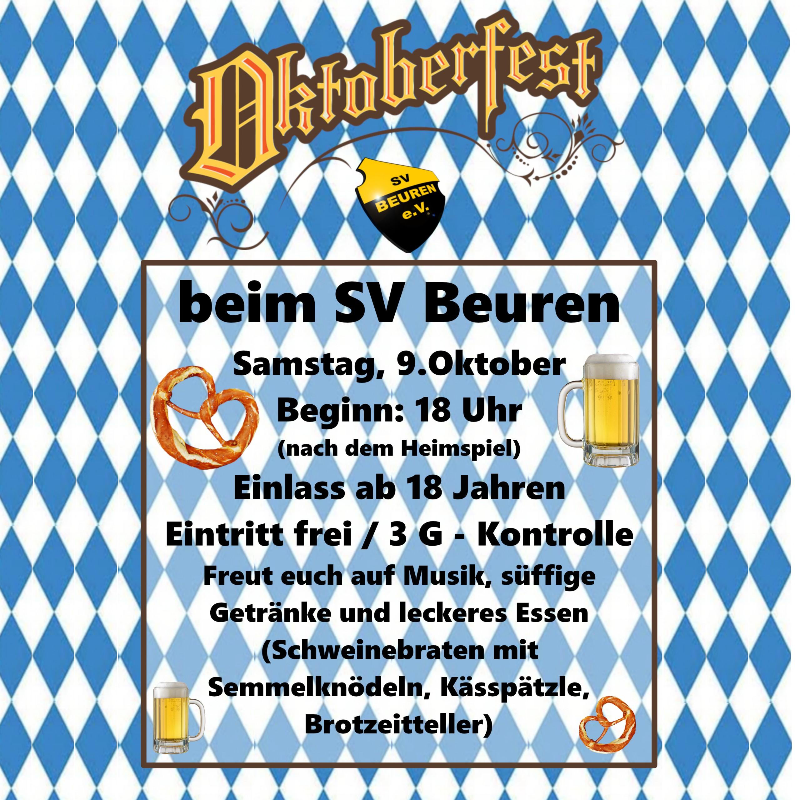 Oktoberfest am 09.10.2021